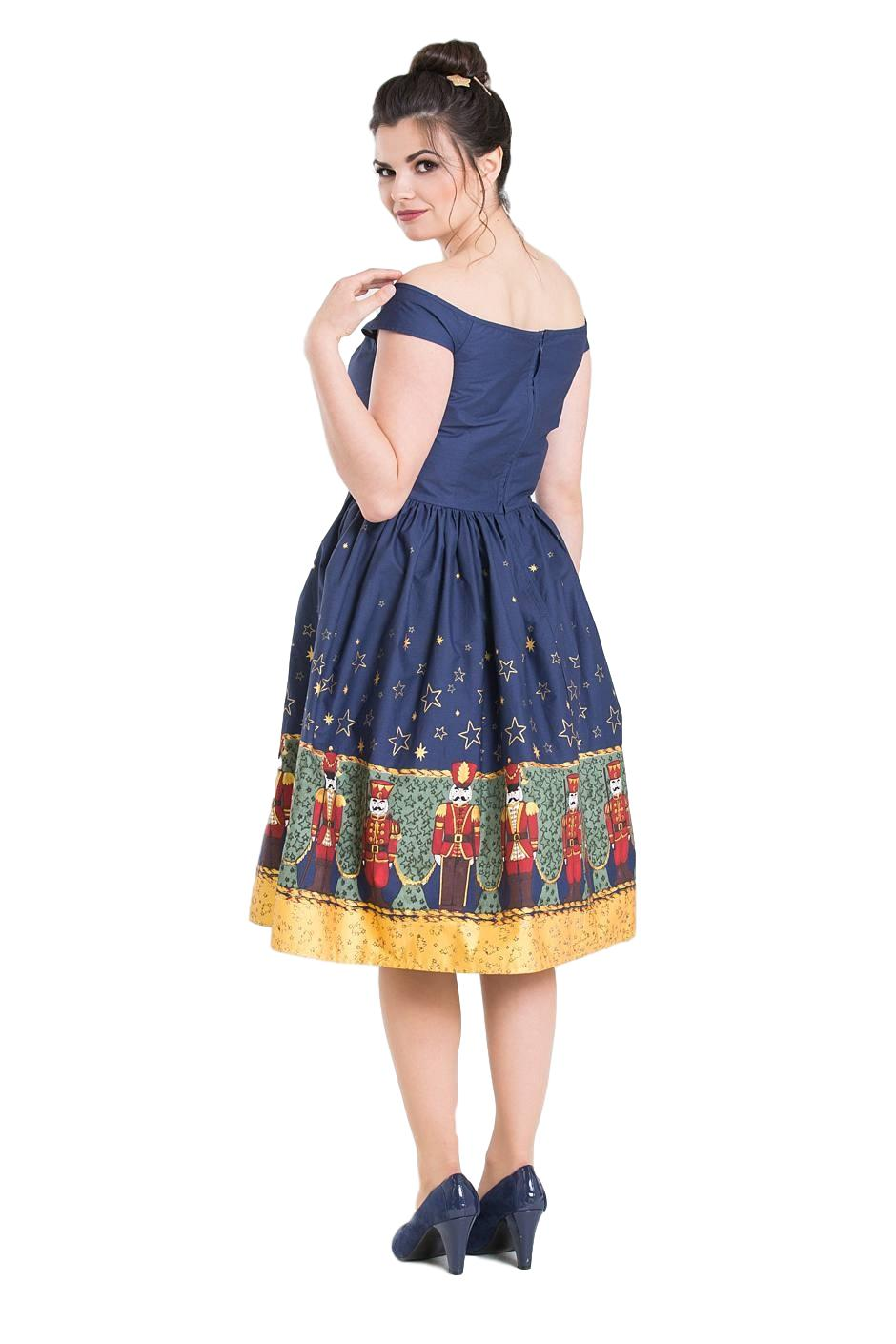 Christmas Party Dress.Details About Hell Bunny Nutcracker Vintage Retro 50s Christmas Party Off Shoulder Flare Dress