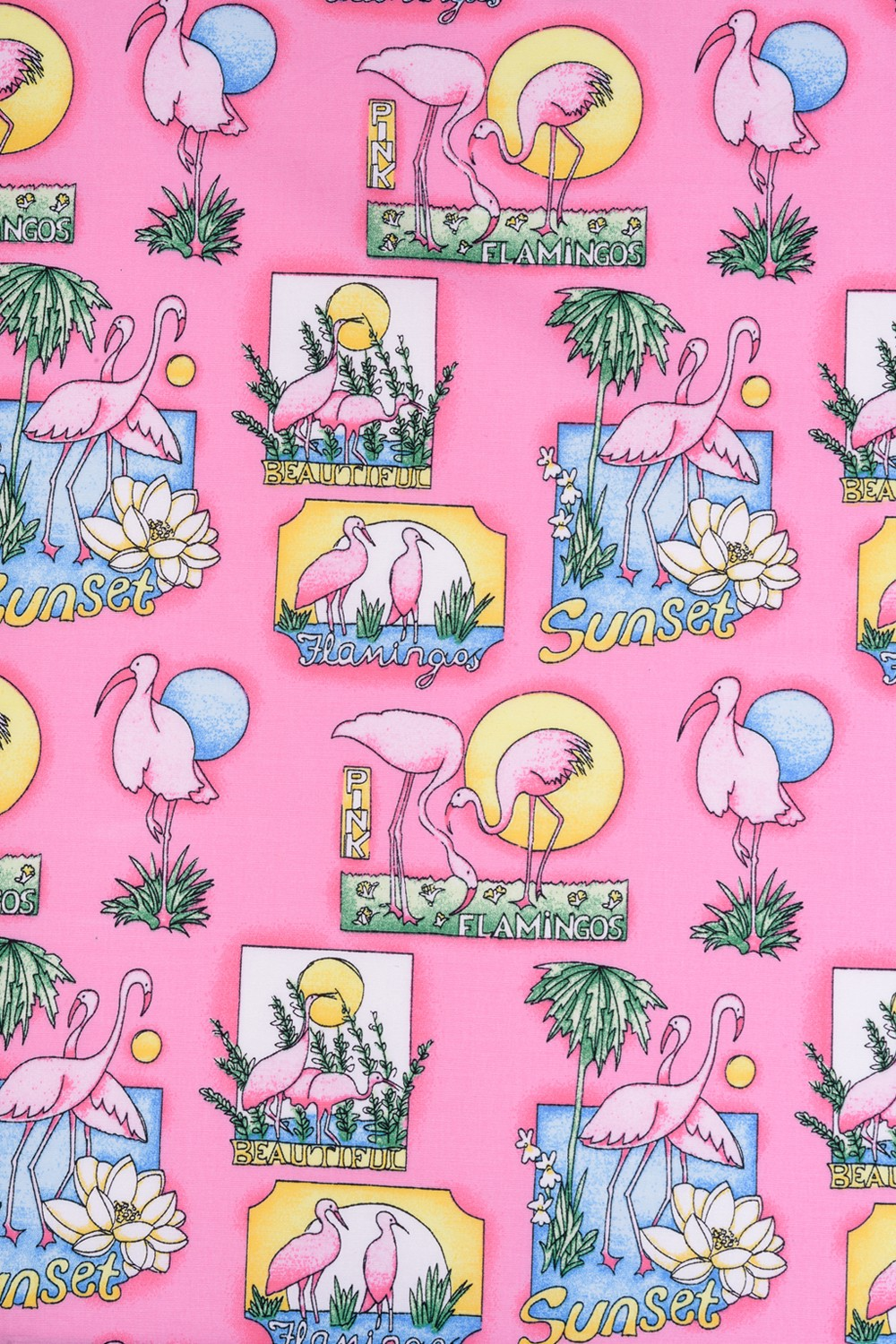 Hell Bunny Maxine Tropical Flamingo Party Vintage Retro 1950/'s Swing Flare Skirt