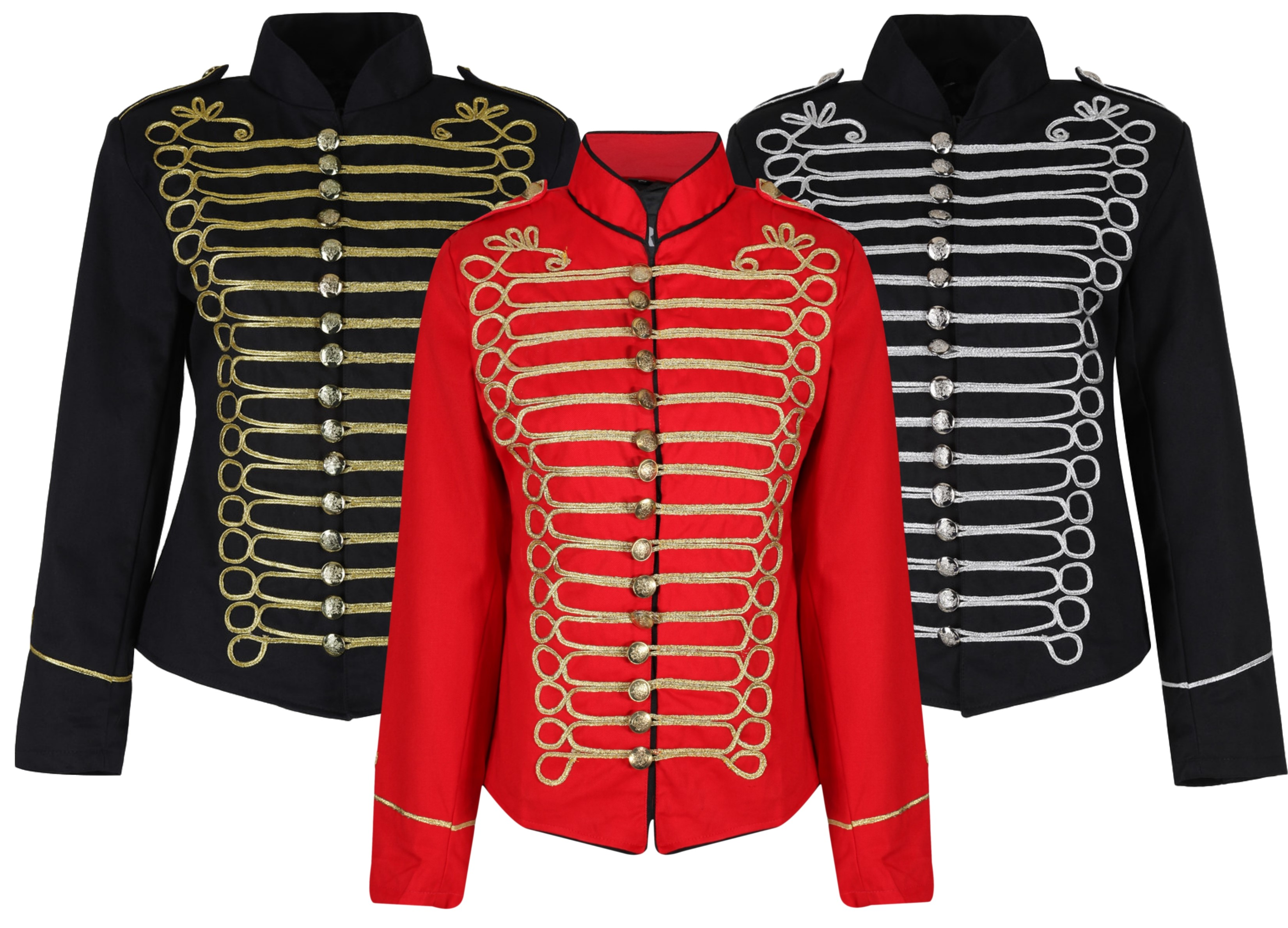 Womens Military Ladies Hussar Drummer Officer MCR Music Festival Parade Jacket