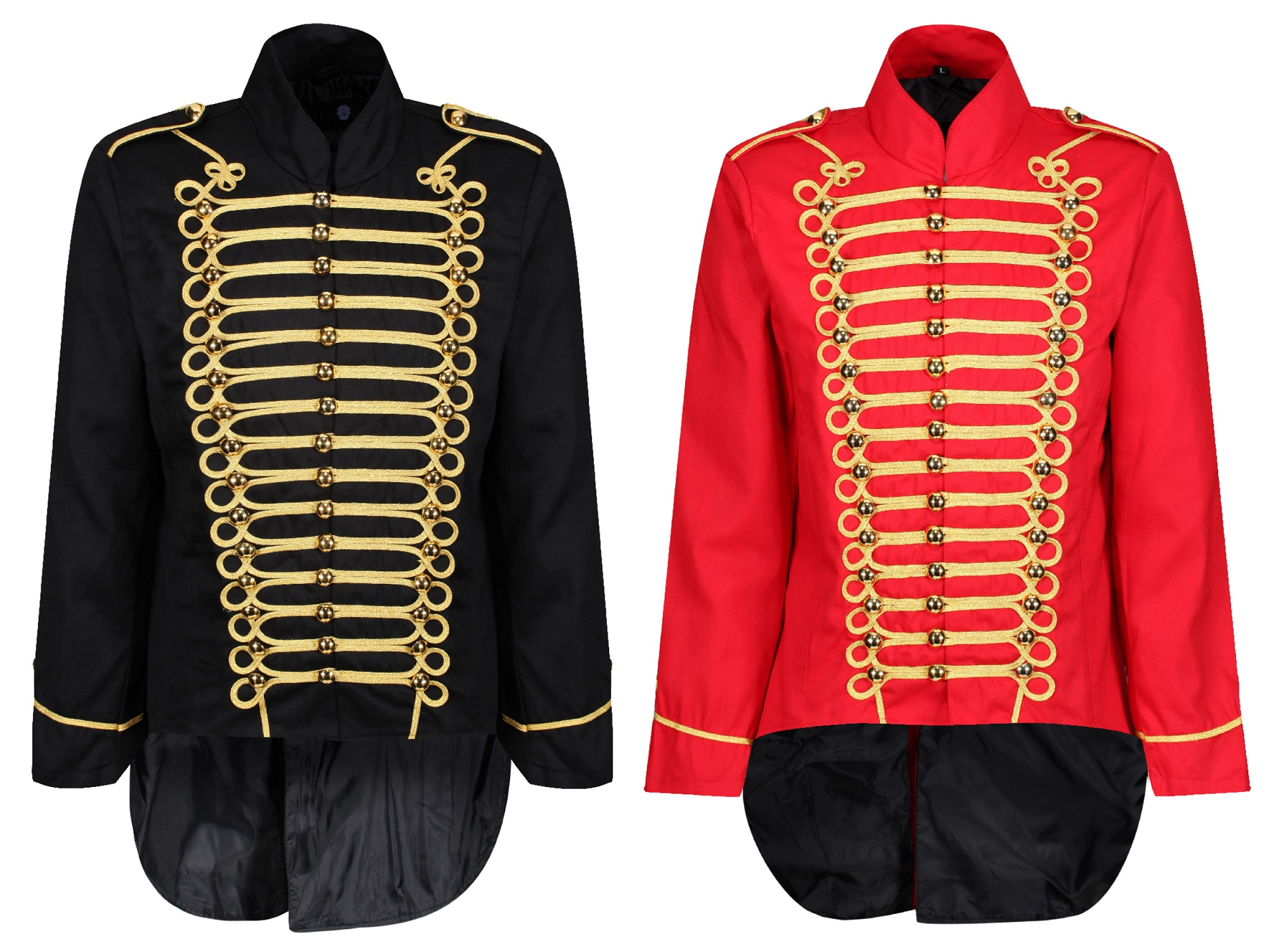 UK STOCK 100/% COTTON STEAMPUNK SILVER MILITARY JACKET DRUMMER BAND PARADE